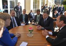 На переговорах «нормандской четверки» Путин, Меркель и Олланд атаковали Порошенко