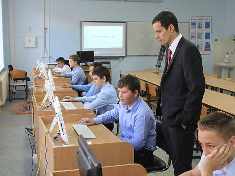 Денис Матросов провел в Симферопольской академической гимназии занятия по программированию